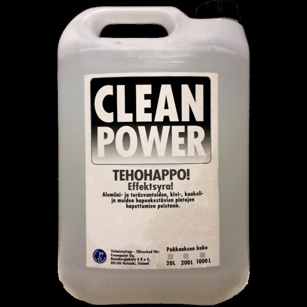 Tuotekuva Happopesuaine Clean Power Tehohappo