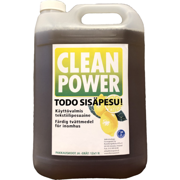 Tuotekuva Tekstiilipesuaine Clean Power Todo